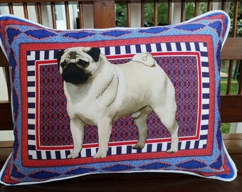 All American Pug Pillow