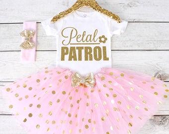 Petal Patrol. Flower Girl Shirt. Flower Girl Outfit. Flower Girl Tutu Outfit. Petal Patrol Shirt. Rehearsal Dinner. S30 FWG (LIGHTP)