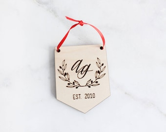 Our First Christmas Ornament Married, Personalized Christmas Ornaments, Mr and Mrs, Gifts Couple, Newlywed Gift, Just Married,
