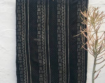 Mudcloth textile, Mud cloth fabric, black and white mudcloth home decor tribal fabric #65