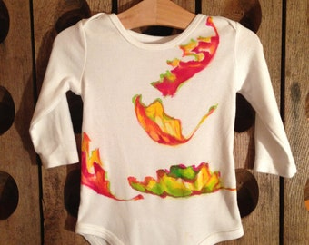Hand Painted Onesie- Fall Leaves