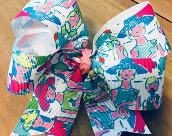 Lilly Pulitzer Inspired Giddy up Hair Bow!