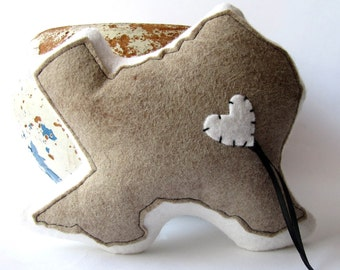 Customizable Texas State Ring Bearer Pillow for Wedding