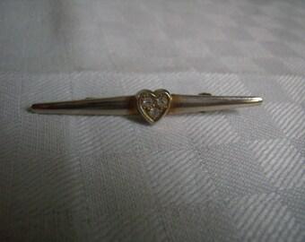 Vintage heart brooch / Vintage 1950s