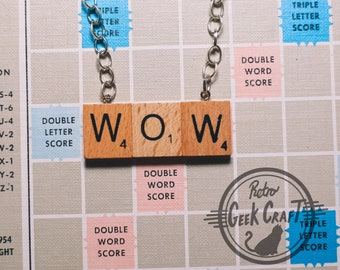 Customised Scrabble Tile Name Necklace