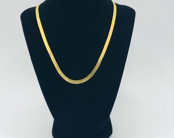 Vintage Signed Monet Gold Tone Necklace