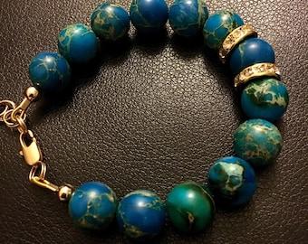 Imperial Jasper beaded bracelet