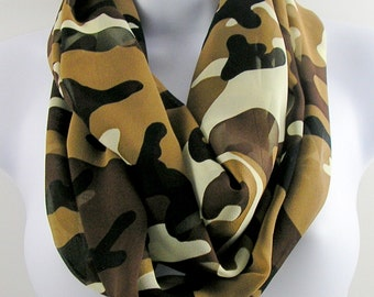 Camouflage Scarves Silk Camo Scarf Womens Camouflage Scarves Chiffon Camo Scarves 100% Silk Infinity Scarves Silk Scarves for Women Scarves