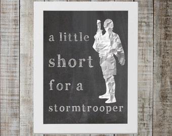 Luke Skywalker Star Wars Print - 'a little short for a stormtrooper'