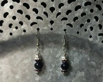 Deep Purple Beaded Earrings