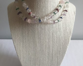 Handcrafted Vintage Beaded Single Strand Necklace
