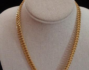 """Vintage Gold Tone 18"""" Monet Necklace"""