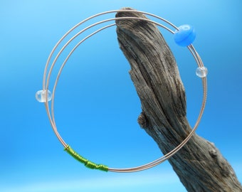 Guitar String Bracelet - Earth and Moons