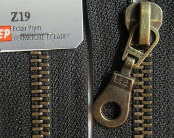 60 cm black brass zipper closure detachable brass Prym Z19