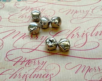 Silver Plated Jingle Bell Charms 11x12 mm 7276SOX x6