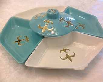 California Pottery Chips and Dip Snack Set