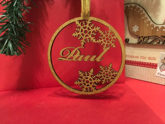 Personalised wooden bauble Personalized Christmas tags Family gift Christmas bauble Custom tree decoration Xmas ornaments Snowflake ornament