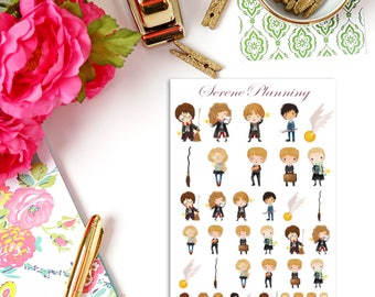 SP-093 Magical Wizards & Witches Kids Set 1 Planner Stickers