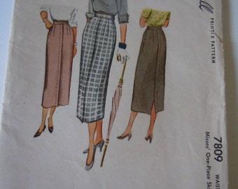 McCall's Skirt Pattern 1949 Waist 24