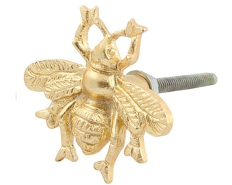 Ordinaire Bee Drawer Knob With Gold Finish   Metal Bee Cabinet Knob (RTG32)