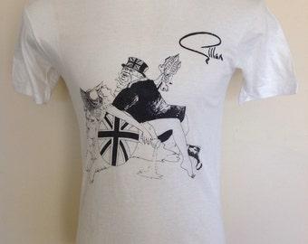 Gillan original 1980's T-Shirt. Size M.