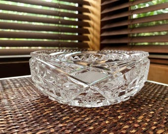 Lovely Crystal Candy Dish, Crystal Condiment Serving Bowl