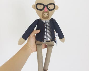 Heisenberg Soft doll inspired by breaking Bad character