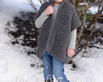Knitting PATTERN-The Loire Sweater (2, 3/4, 5/7, 8/10, 11/13, 14/16, adult S, adult M, adult L, adult xL, adult xxL sizes)