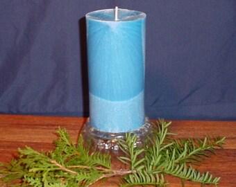 "3"" round cylinder blue pillar candles"