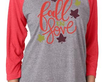 Fall In Love 3/4 Sleeve Raglan