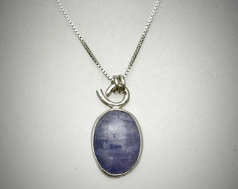 Sterling and Oval Tanzanite Necklace