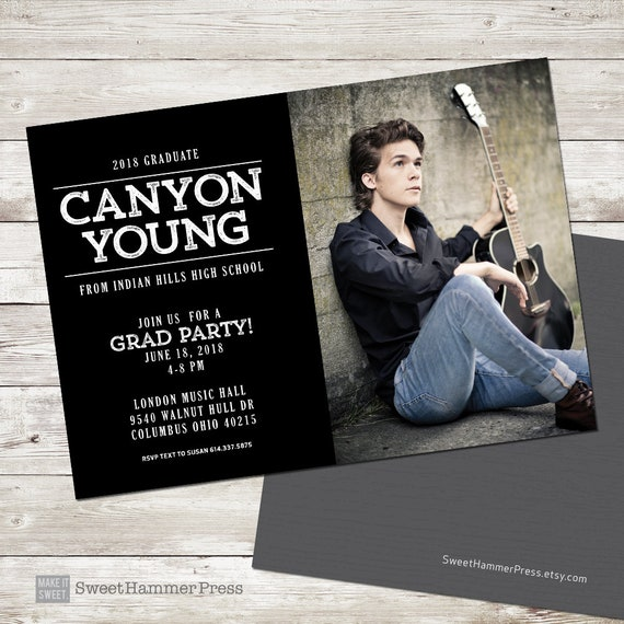 High school graduation invitation for guys graduation like this item filmwisefo Choice Image