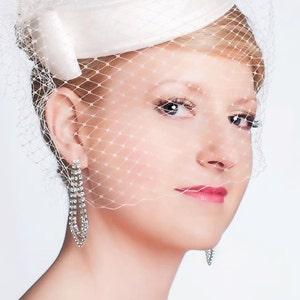 Elegant  Silk Dupioni Pillbox Wedding Hat - Made to Order - Ships in 4 Weeks