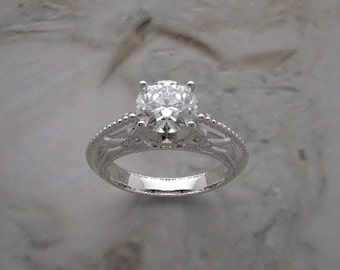 Designer Collection Deco Style Engagement Ring Mounting Made In The USA