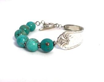 Vintage spoon handle bracelet, silverware jewelry