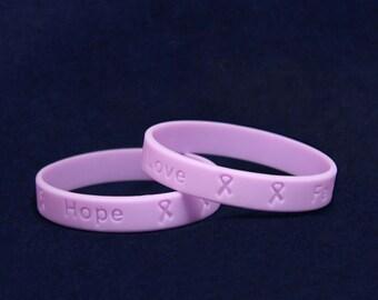 25 Child Lavender Silicone Bracelets - 25 Bracelets (SILBC-19)