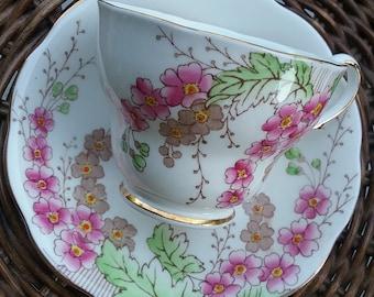 Royal Standard Argyle #482 Tea Cup and Saucer, Royal Standard English Bone China, Made in England Tea Cup and Saucer, Royal Standard, Tea