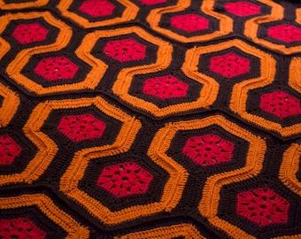 CROCHET PATTERN for The Shining Crocheted Blanket / Throw / Afghan