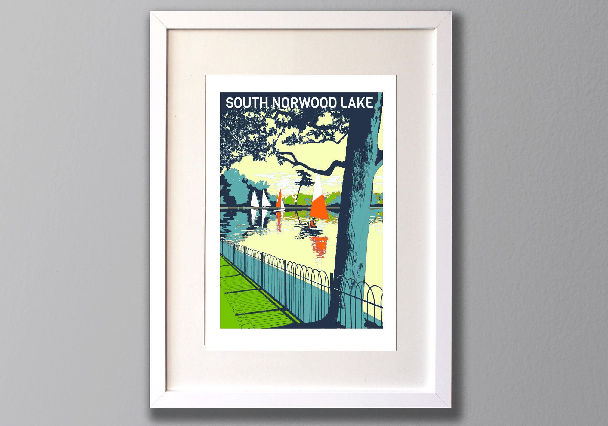South norwood lake limited edition a3 screen print crystal zoom jeuxipadfo Gallery