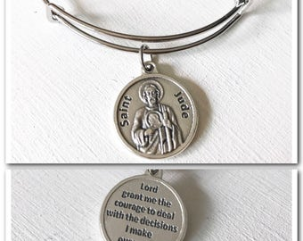 St. Jude Patron Saint of Hope and Impossible Causes Bangle bracelet