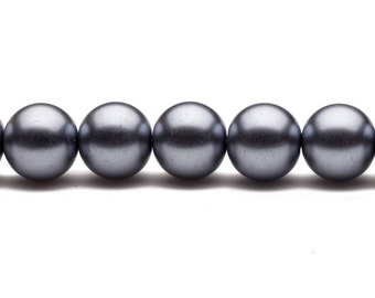 4-16mm midnight blue round glass pearl 4mm 6mm 8mm 10mm 12mm 14mm 16mm glass pearl beads round