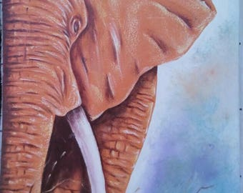 Elephant painting,canvas painting,Africa art,Home decor,Wall decor painting,wallhanging,Africa wallhanging,Animal painting,Living room decor
