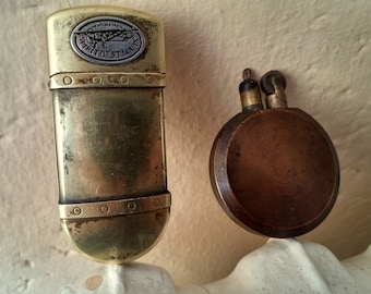 Two Old Brass Lighters
