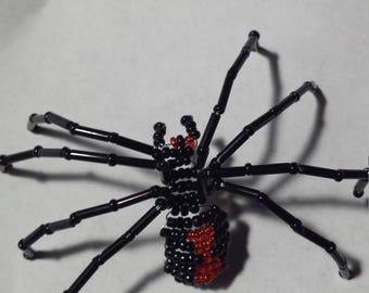 Black Widow Beaded Spider
