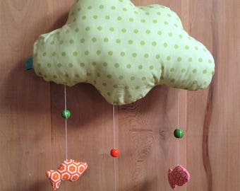 """Mobile """"of fish in a cloud"""" pale green"""