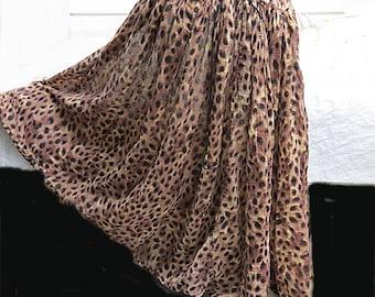 Vintage 1970 Indian Cotton Gauze Hippie Skirt   #539