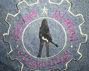 CHROME PLATED ETHRIDGE - Denim Jacket - Melissa Ethridge tour jacket size Medium