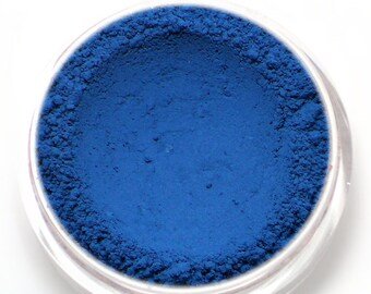"Matte Deep Blue Eyeshadow - ""Lazuli"" - Vegan Mineral Eyeshadow Net Wt 2g Natural Eye Shadow Pigment"
