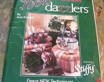 Bow Dazzlers: New Ways with Bows ~ DIY Bow Making Instruction ~ Make 4 Different Stiffened Bows - Plaid Stiffy