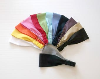 Preppy Solid Linen Fabric Wrap Headband in 14 Colors
